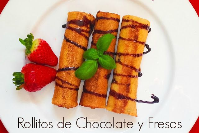 #rollitos #chocolate #fresas #receta #postre #desyuno #merienda #blog