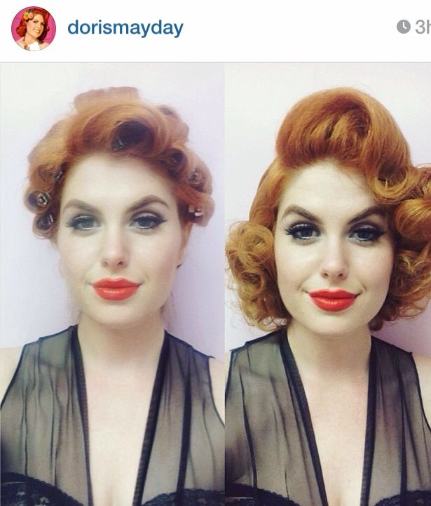 How to give good set! A good reminder on pin curl technique from Doris Mayday