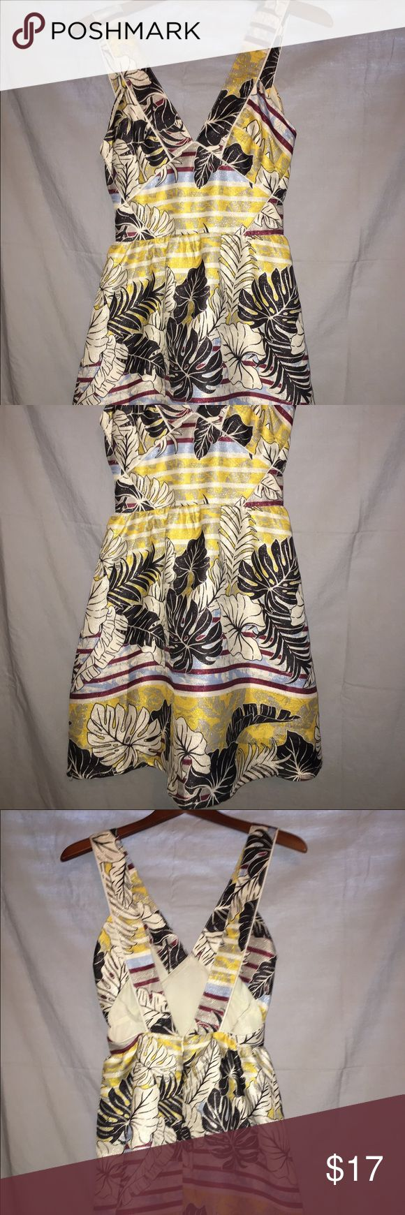 H&M cocktail dress Sparkly floral pattern! Big in the bust. Never worn! H&M Dresses