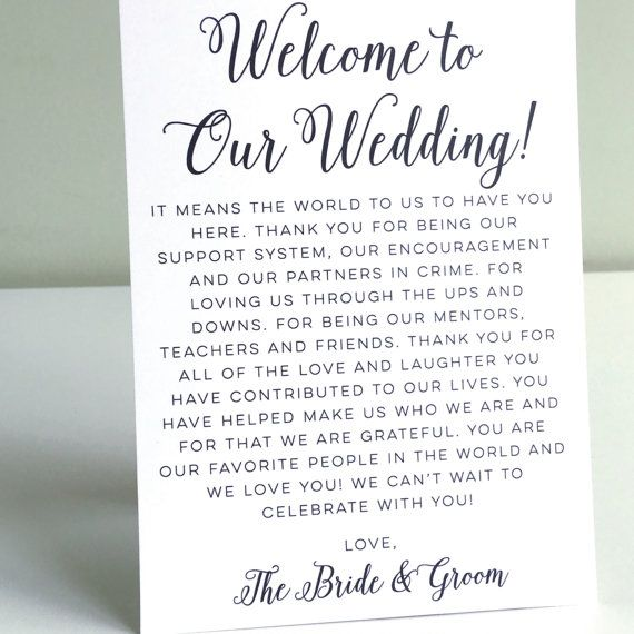 This Printable Wedding Welcome Letter Is Perfect For The Diy Bride On A Budget Once