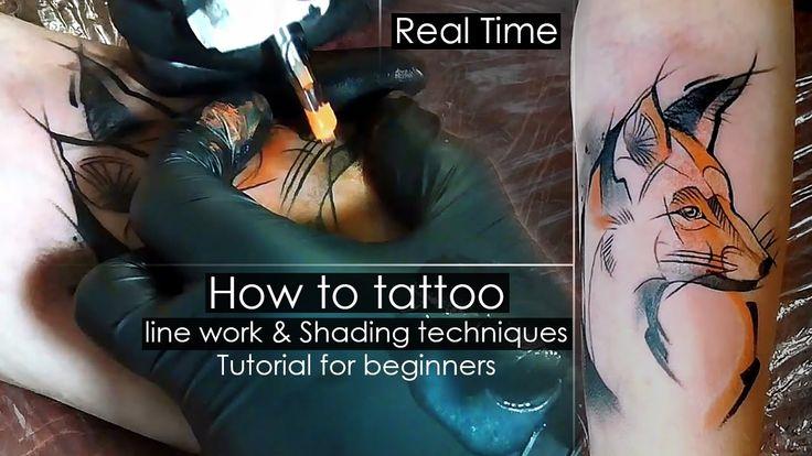 How to #tattoo #linework and Shading #techniques. #Tutorial for beginners, Proce… – Тату Екатеринбург – Алексей Михайлов