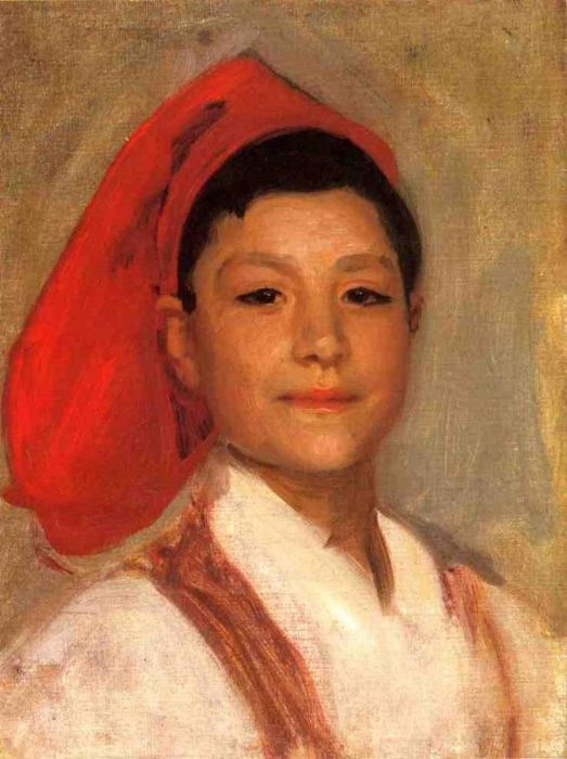 Сарджент, Джон Сингер (Sargent, John Singer) «1879. Head of a Neapolitan Boy »