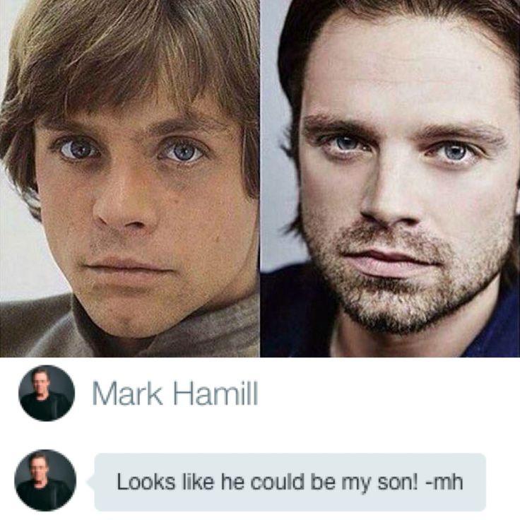 Mark Hamill and Sebastian Stan