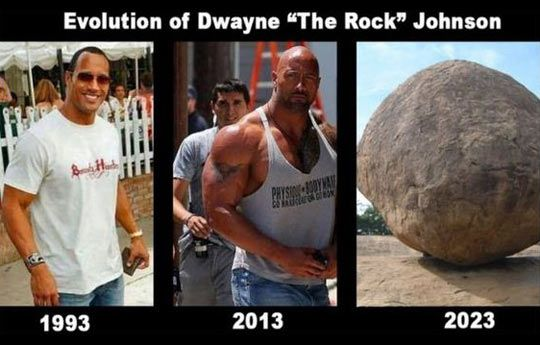 The evolution of Dwayne Johnson…wow! That is putting on some serious mass!