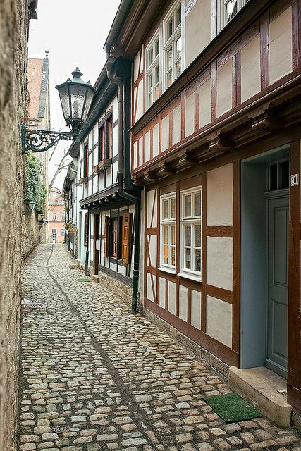 Cobbled street by helmuthess on Flickr. - Erfurt, Thuringia - Germany
