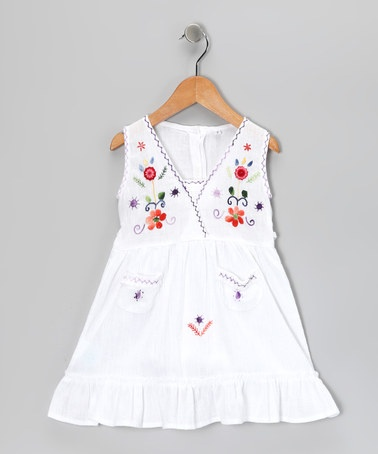Take a look at this White Emma Dress - Infant, Toddler & Girls by Little Cotton Dress on #zulily today!