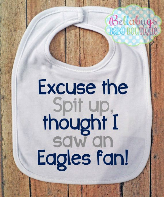 Excuse the spit up Bib  Dallas Cowboys  Football  by BellabugsBaby