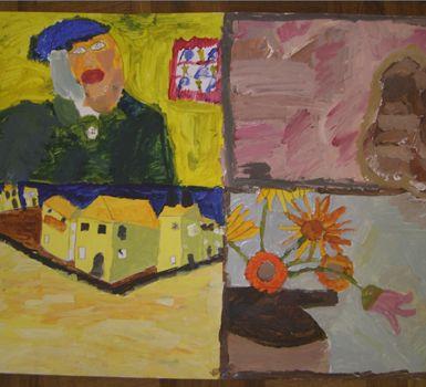Fine Art 4 Kids! Holiday art workshops for children.  www.FineArt4Kids.com Vincent van Gogh