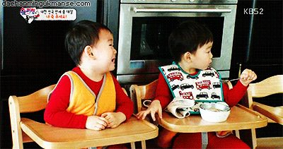 Minguk crying because appa ate all the porridge | The Return of Superman