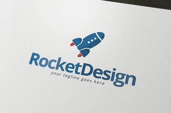 Rocket Design Logo by PixaSquare on @creativemarket