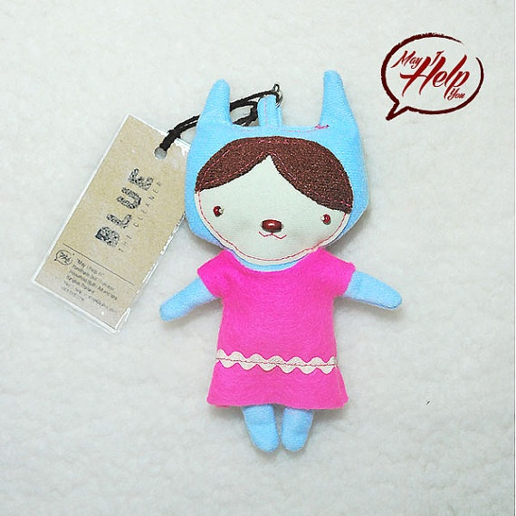 07 Blue  The Cleaner 9 Lives Cat Project  Handmade by MayIHelpU, $8.00