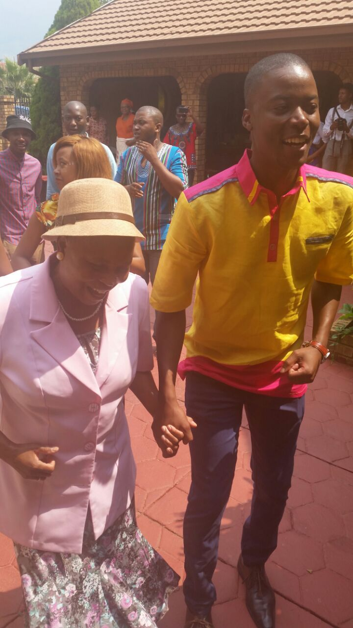 Tebatso with his aunt...