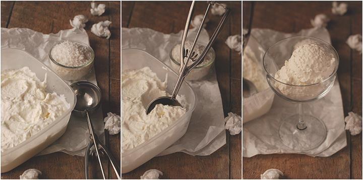 Jest upał - są lody! :) Tym razem z wiórkami kokosowymi :)  fot. czympachnieuzakow.blox.pl #icecream #hot #lody #kokosowe #pycha