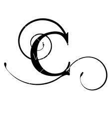 Decorative Letter C Initial TattoosLetter