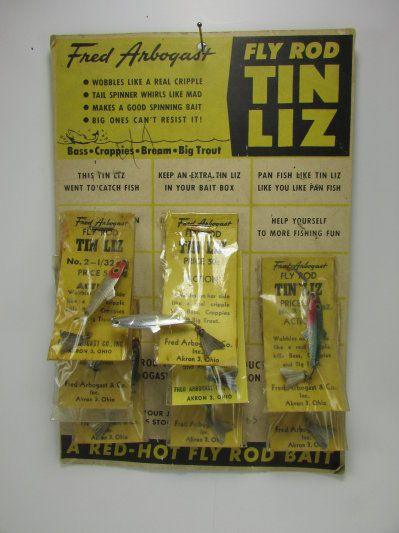 Fly Rod Tin Liz dealer card.