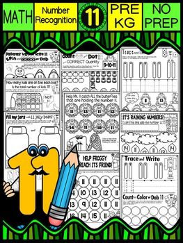 This package contains  MATH WORKSHEETS TO TEACH THE NUMBER 11 AND NUMBER SENSE FROM 1-11. There are 23 total worksheets to teach the number  11 (counting, tracing, quantities and composing/decomposing to make 11).  This package focuses on:Number 11/ quantities to 11Tracing, counting, writing the number 11 and word elevenCounting quantities 1-15Understanding how to make 11*****************************************************************************     I presently have a bundle for…