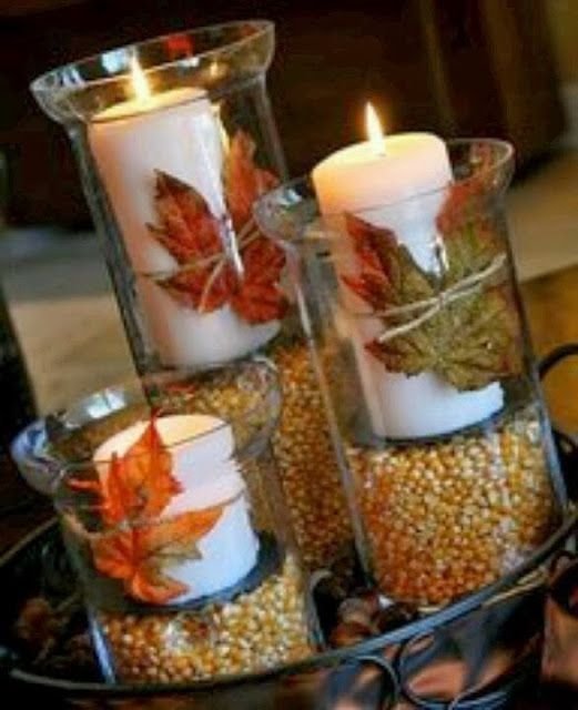 Thanksgiving Decorations | Diary of a Fit Mommy: The BEST #thanksgivingdecor | #thanksgiving #candles #decor #centerpiece