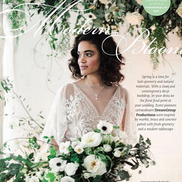 Our Elle gown featured on the pages of Real Weddings Magazine for Spring 2017💕 Available in stores now! Thanks so much to @realweddings and @luisarinostylist 😘😘😘    #Regram via @elika.in.love