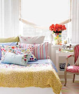 Decorating Tricks for Your Bedroom:   A gallery of simple ideas to make your slumber zone dreamy.    Pile on the Pillows    Pile on the pillows, and don't shy away from mixing patterns. Combine large prints with small ones, florals with geometrics.