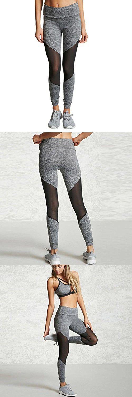 Women Leggings, Gillberry Women Sports Trousers Athletic Gym Workout Fitness Yoga Leggings Pants (S, Gray)