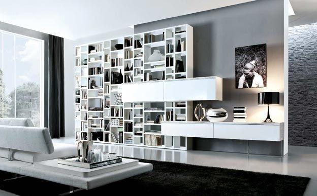 contemporary living room wall unit CROSSING (MECR021) by M.Lipparini MisuraEmme. Modern Office Wall unit approaches for an MCM home. There weren't a whole hell of a lot of home offices back in the day.