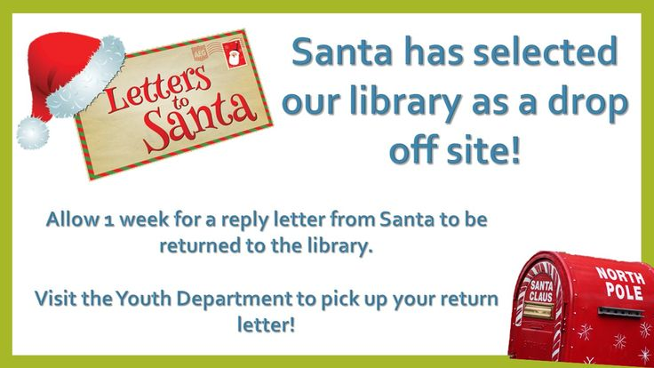Santa's mailbox is being delivered and we expect it to be here after Thanksgiving!  Stop by the library with… www.denisonpubliclibrary.com