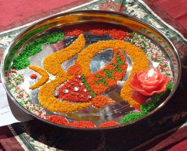 Creative ganpati decoration ideas for home creative for Arti thali decoration