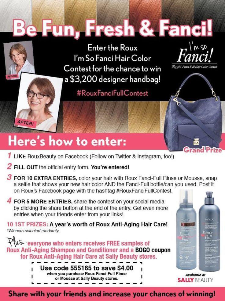 Win an LV Handbag with the Roux Beauty I'm So Fanci Contest! Prime Beauty Blog