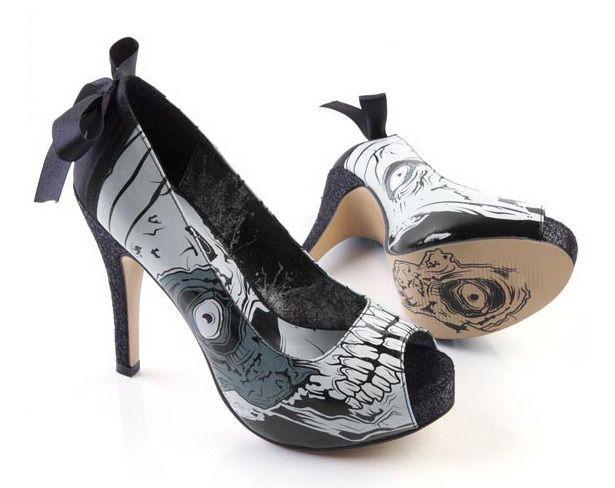 Encaje de fabulosas del talón de estilete Peep Toe zapatos