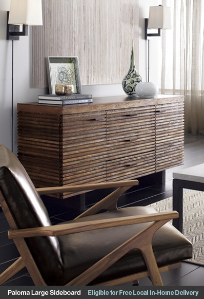 Love This Retro Cavett Chair Crate And Barrel Find Pin More On Sideboards Buffets