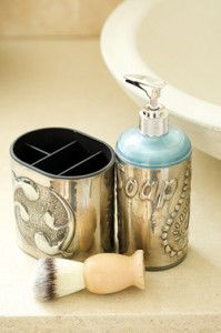 Creative Company   Pewter it – Soap dispenser and toothbrush holder