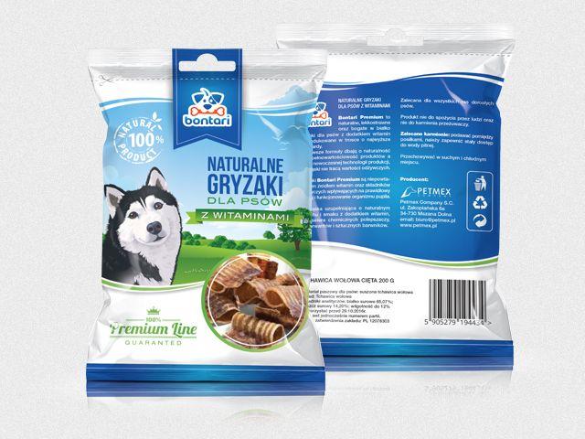 Opakowanie dla nowej marki BONTARI – gryzaki dla Psów z dodatkiem witamin