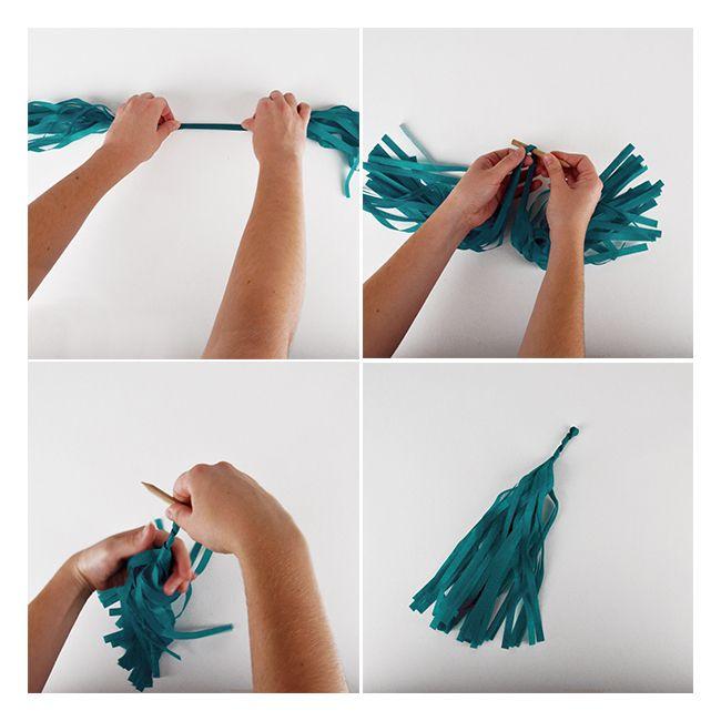 Cómo hacer una guirnalda de flecos