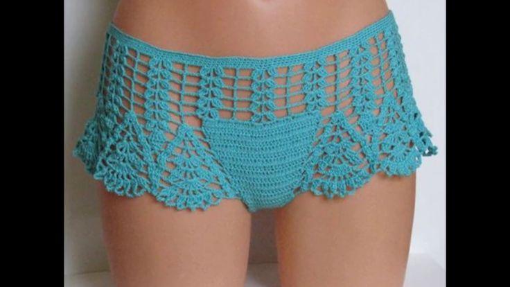 Pantalon Corto Mini Short de Crochet Para Verano
