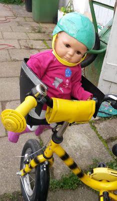 Zange und Hammer: Puppen Kindersitz fürs Fahrrad aus altem Fahrradko...