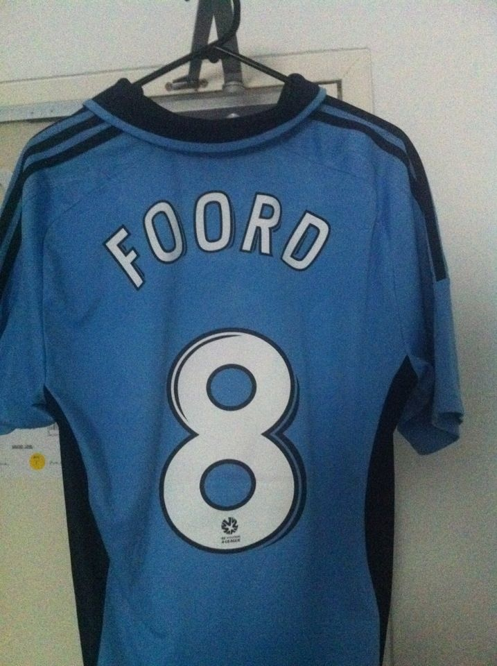 My Sydney FC jersey - now printed because Caitlin Foord is my favourite player on the team.