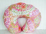 Soren by Angelique Pink Damask Nursing Pillow Cover