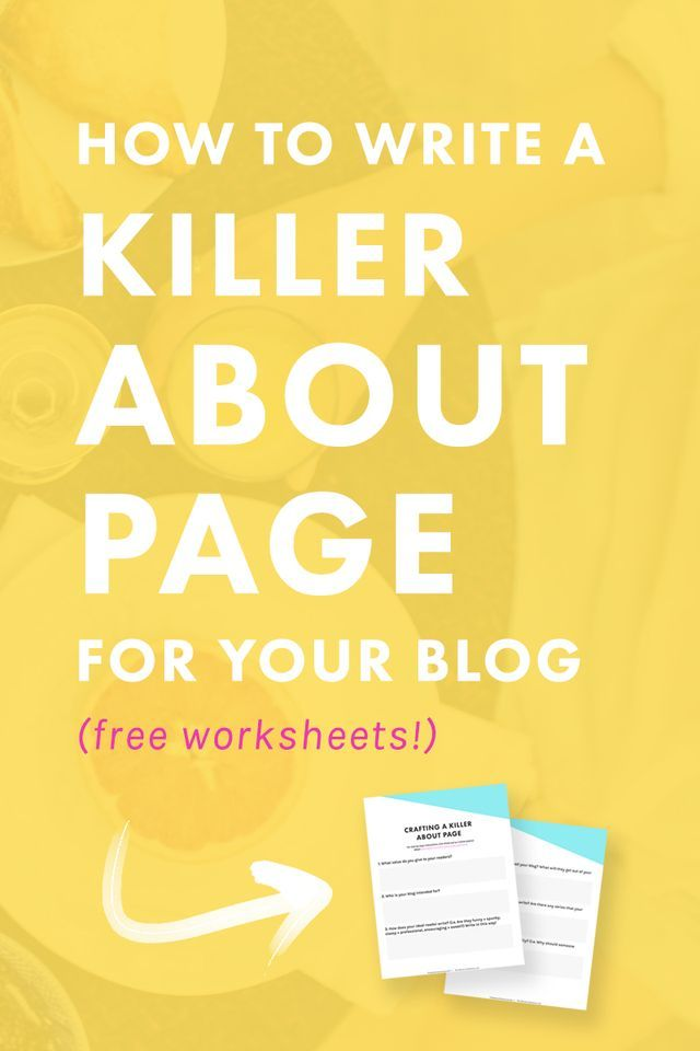 How to Write a Killer About Me Page for Your Blog (Free Worksheets!) | The Nectar Collective | Entrepreneur + Blogging Tips | Bloglovin'