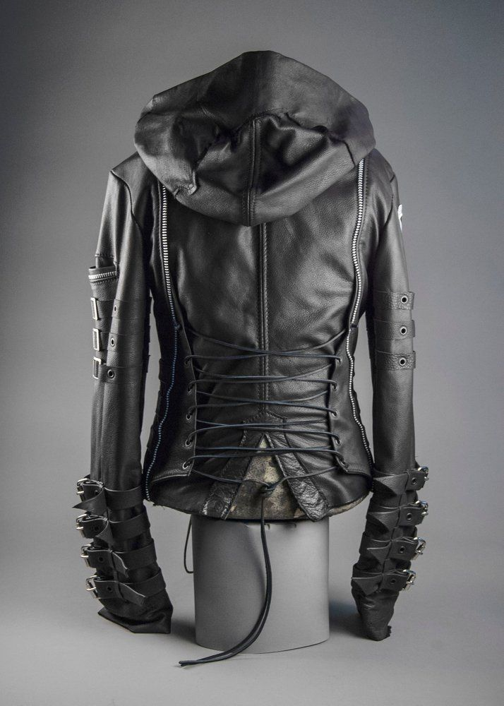 Image Of Junker Designs Leather Chainsaw And Lady Chainsaw Jacket Stylish Jackets Jackets Men Fashion Leather Jacket