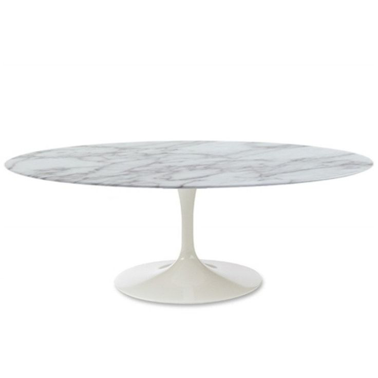 Eero style 48 tulip coffee table in white marble