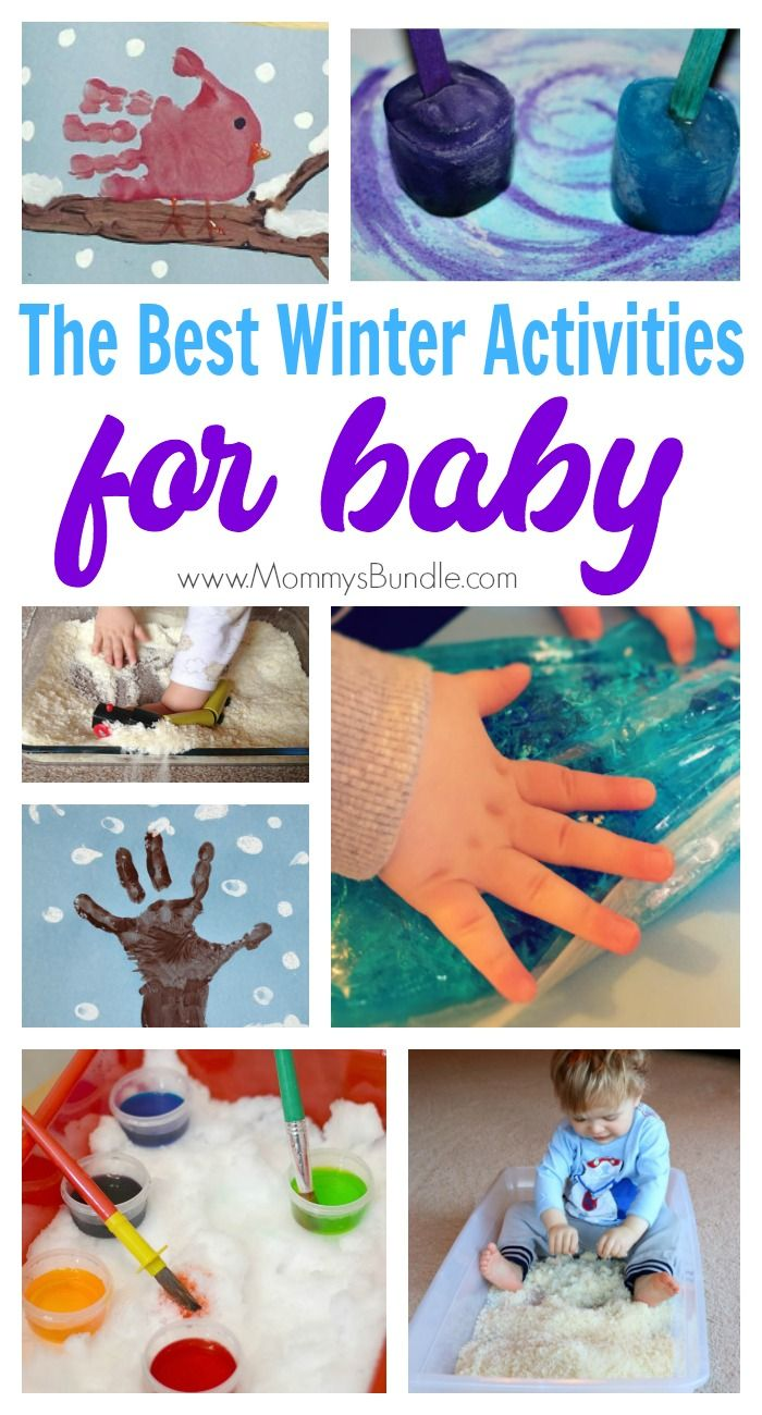 BEST winter activities for BABIES! Fun indoor arts and crafts for babies 6-18 months. Includes simple sensory play, edible ideas safe for baby.