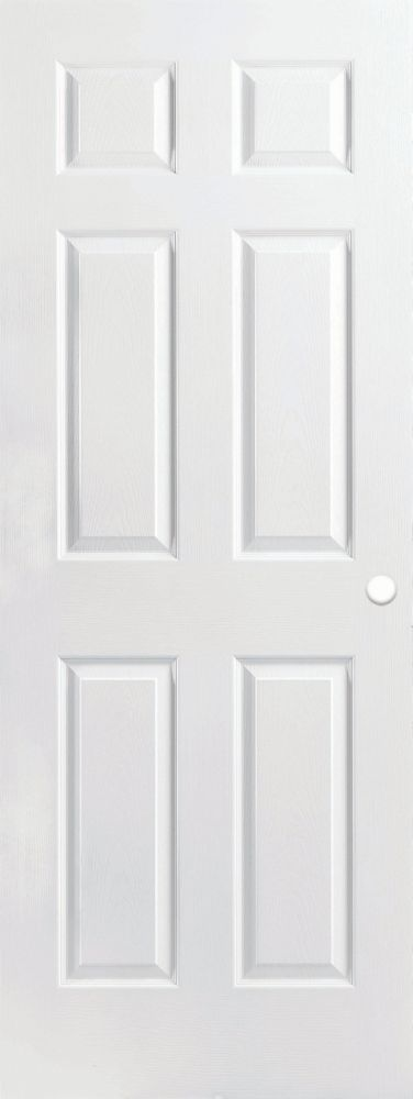 Masonite Primed 6 Panel Textured Pre-bored Interior Door 30 In. x 80 In. | The Home Depot Canada