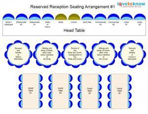 A handy free wedding seating chart