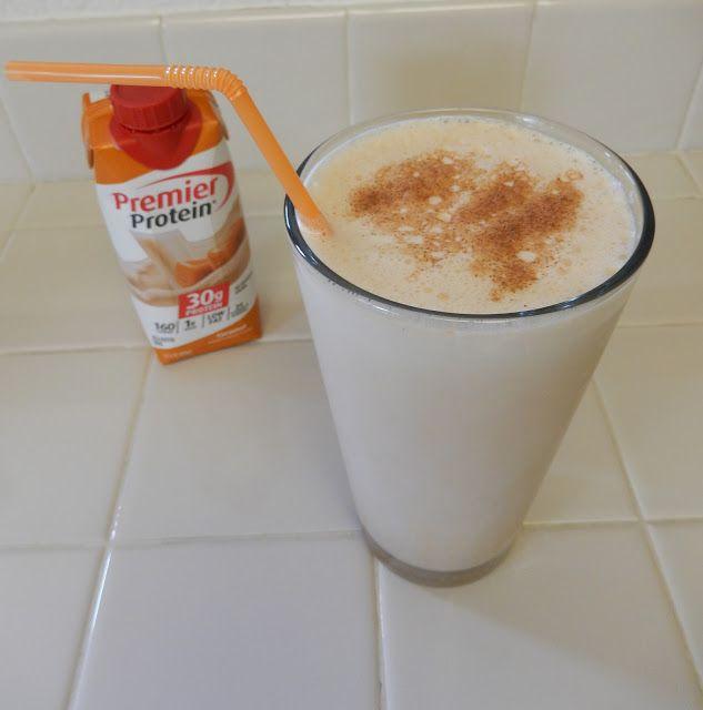 Eggface Protein Shake Recipes: Caramel Pumpkin Premier Protein Shake with @PremierProtein #TheDayIsYours  Weight Loss Fitness Bariatric Surgery friendly