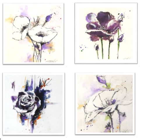 I've been busy with all sorts of miniature works from 200 x 200mm square paintings, to prints of my original paintings for on-line sales on my facebook page, to greetings cards for the…