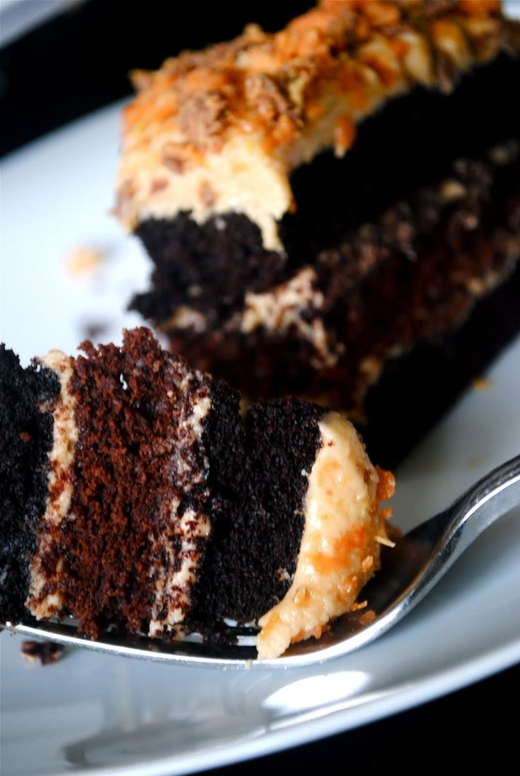 Chocolate Cake with Peanut Butter Frosting (using Almond Milk)