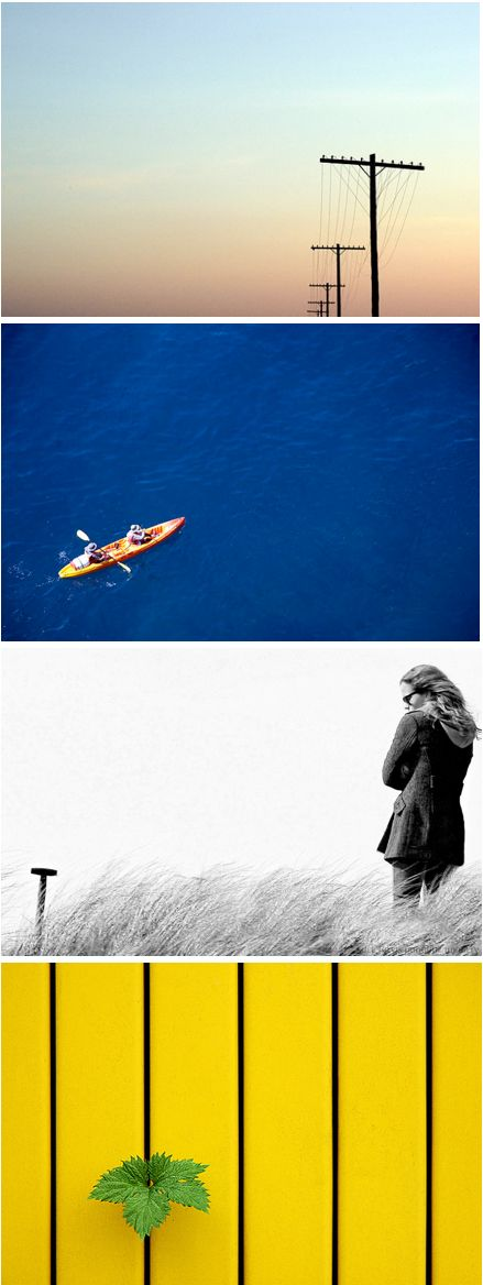 Photography 101: How Taking Advantage of Negative Space Can Improve Your Photos (http://blog.kicksend.com/negative-space-improve-photos/)