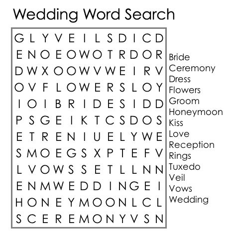 LLauRRa 39 s Wedding Word Search Tic Tac Toe Programs