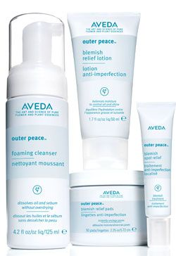 AVEDA Skin Care:  Outer Peace is a botanical approach to treating acne- personalized with extractions and professional exfoliation- that utilizes Aveda's Outer Peace™ system with 100% naturally derived salicylic acid.