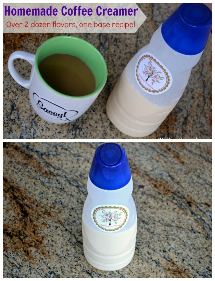 """Have you read the ingredients on your creamer bottle? FULL of chemicals. This creamer is SO easy and I promise you won't miss your coffee mate. ONLY COSTS 1.50 per bottle."" THIS IS AWESOME!! So many flavors made with one simple base!! 